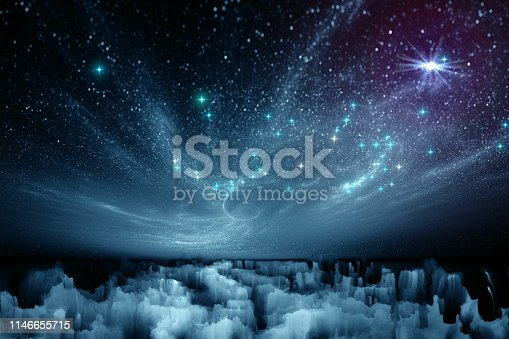 istock fantastic landscape of another planet 1146655715