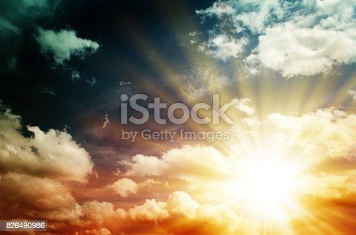 626588878 istock photo Fantastic multicolored sky 826490986