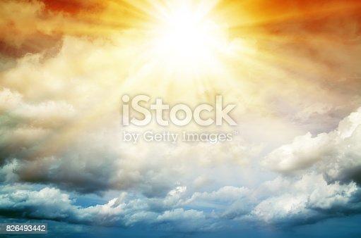 626588878 istock photo Fantastic multicolored sky 826493442