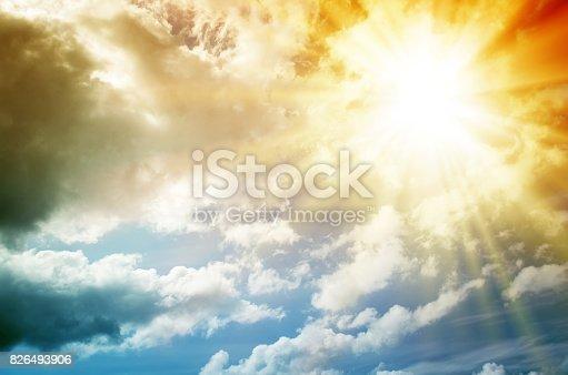 istock Fantastic multicolored sky 826493906