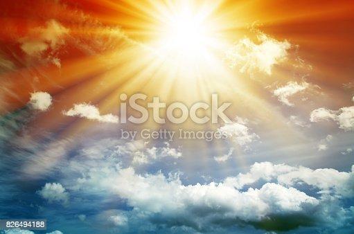 626588878 istock photo Fantastic multicolored sky 826494188