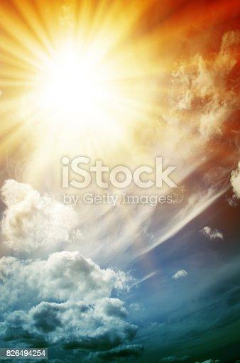 626588878 istock photo Fantastic multicolored sky 826494254