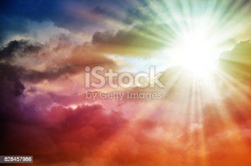 626588878 istock photo Fantastic multicolored sky 828457986