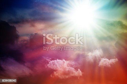 626588878 istock photo Fantastic multicolored sky 828458040
