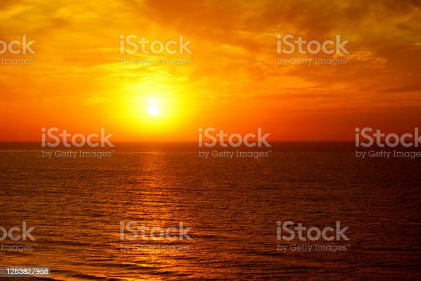 Photo of Fantastic ocean and sunset sky