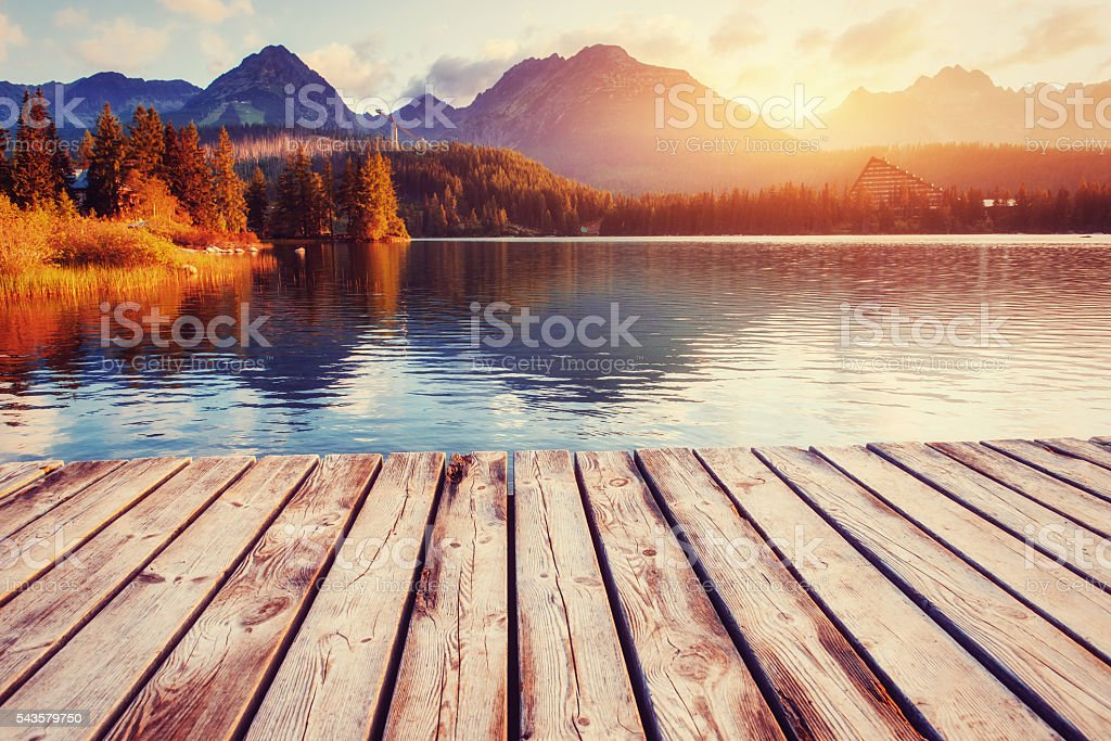 Fantastic Shtrbske Pleso High Tatras. Slovakia, Europe. stock photo