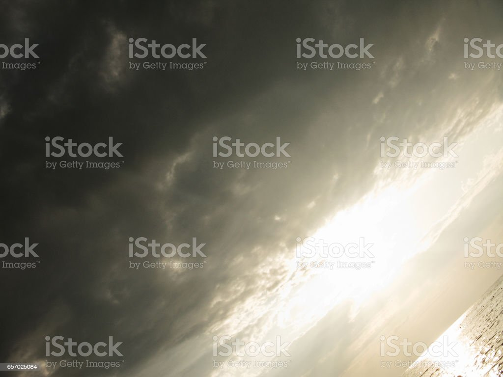 Fantastic silver sunset sundown rainy sky photo.