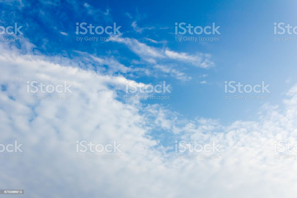 Fantastic soft white clouds foto de stock royalty-free