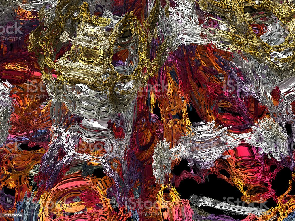 Fantastic 3D structures complex inner workings of a mathematical fractal stock photo