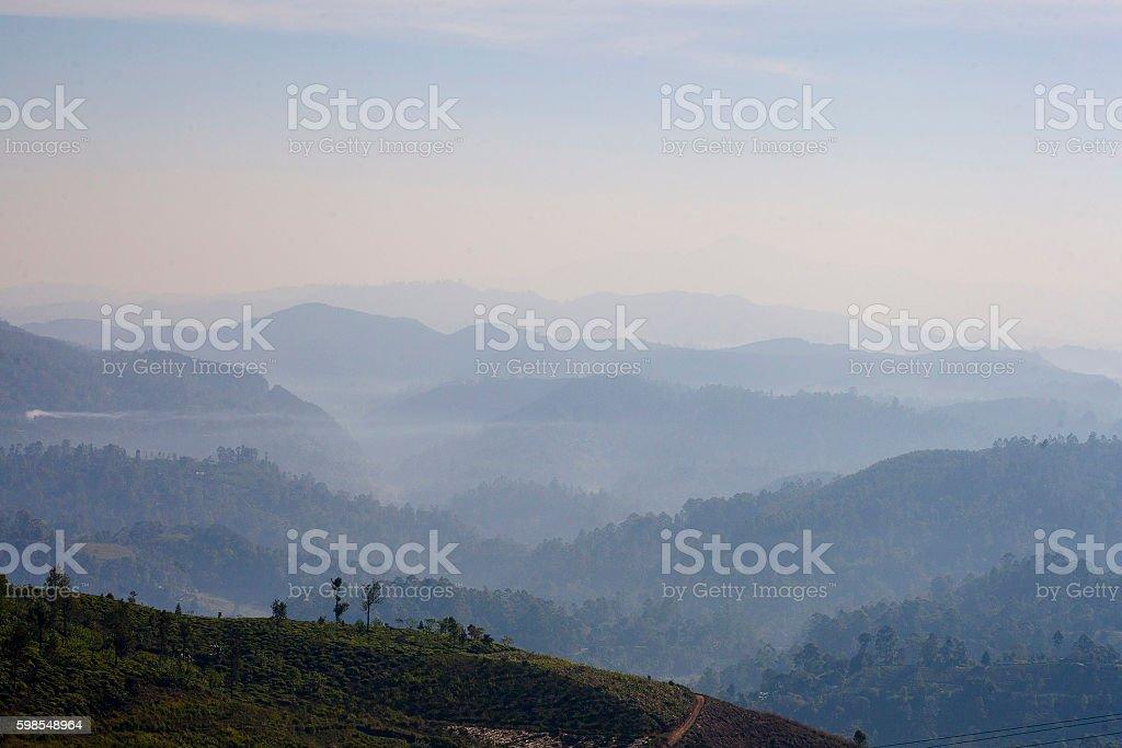 Fantastic sunrise in the mountains in Sri Lanka photo libre de droits