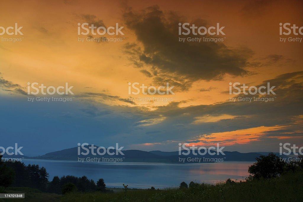 Fantastic sunset royalty-free stock photo