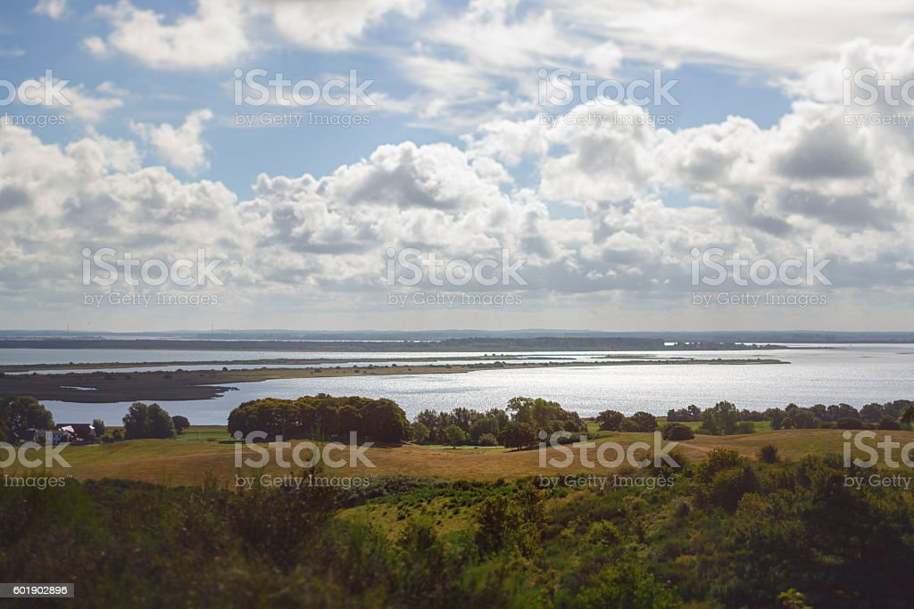Fantastic view over country and water stock photo