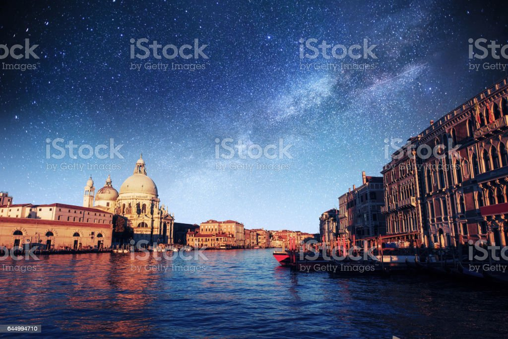 Fantastic views of the Grand Canal stock photo