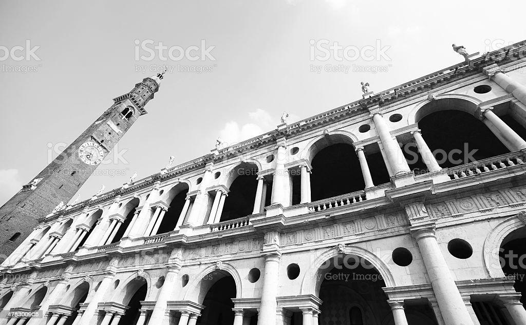 Fantastica bianco palladiane basilica di Vicenza Italia - foto stock