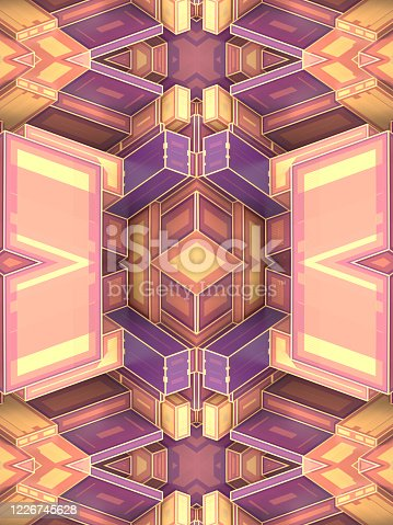 926309126 istock photo Fantasy abstract pattern with 3d rendering impossible architecture shapes 1226745628