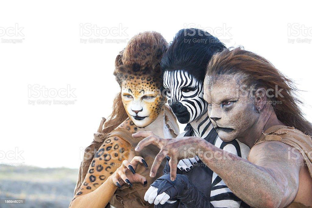 Fantasy Animal Trio royalty-free stock photo