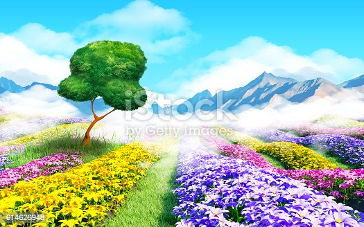 istock fantasy cartoon landscape 614626948