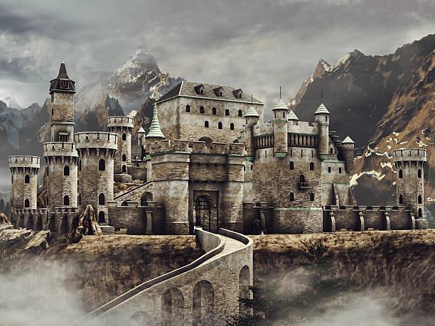 castelo encantado nas montanhas - castelo - fotografias e filmes do acervo