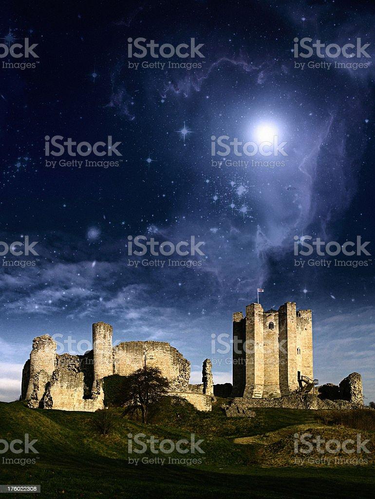 Fantasy Castle Landscape royalty-free stock photo