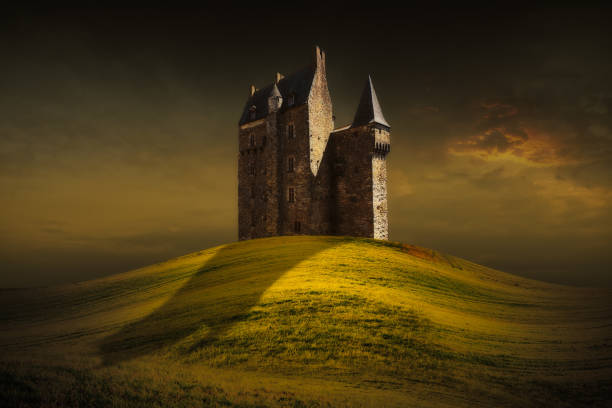 Fantasy castle stock photo