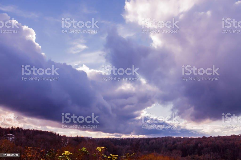 Fantasy cloud - sky extreme silence weather minimalistic dark blue...