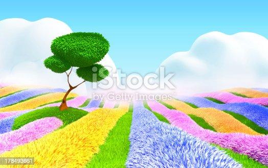 istock fantasy floral landscape 178493661