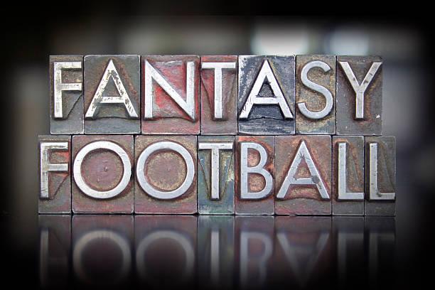 Fantasy Football Letterpress stock photo