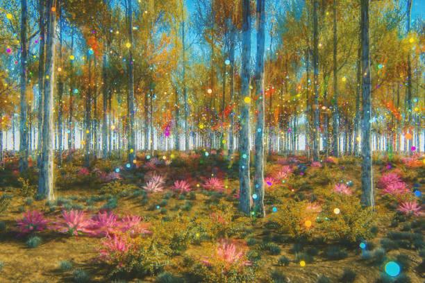 forêt fantastique - technique photographique photos et images de collection