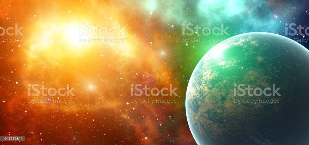 Fantasy Galactic Planets System Universe In Space Future