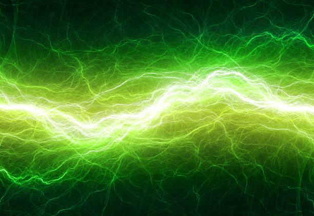 фантазия green lightning - lightning стоковые фото и изображения