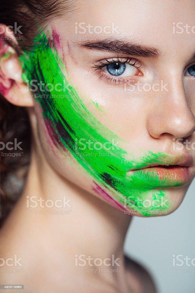 Fantasy makeup stock photo