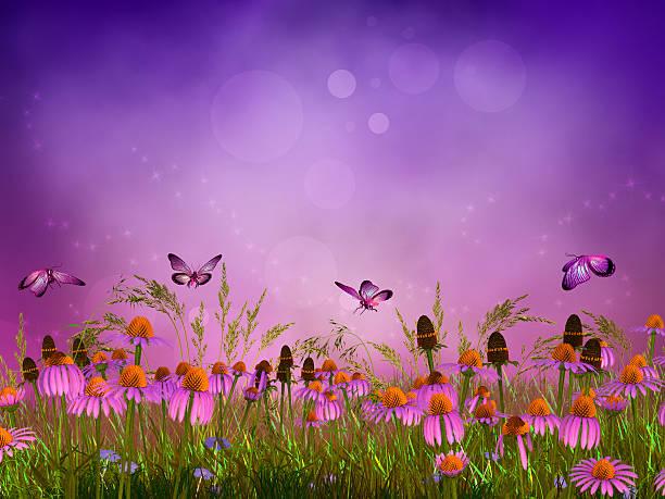Fantasy meadow stock photo