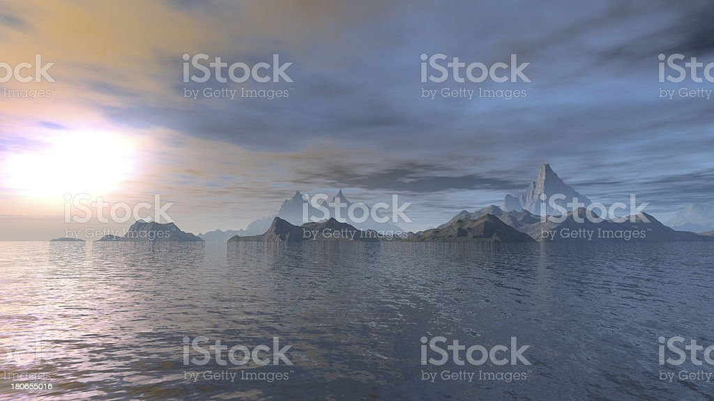 Fantasy ocean royalty-free stock photo