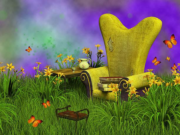 fantasy reading place stock photo