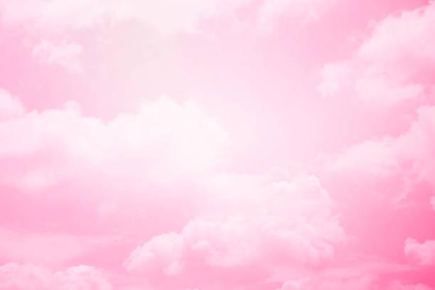 fantezi pastel degrade renkle yumuşak bulut - kabarık stok fotoğraflar ve resimler