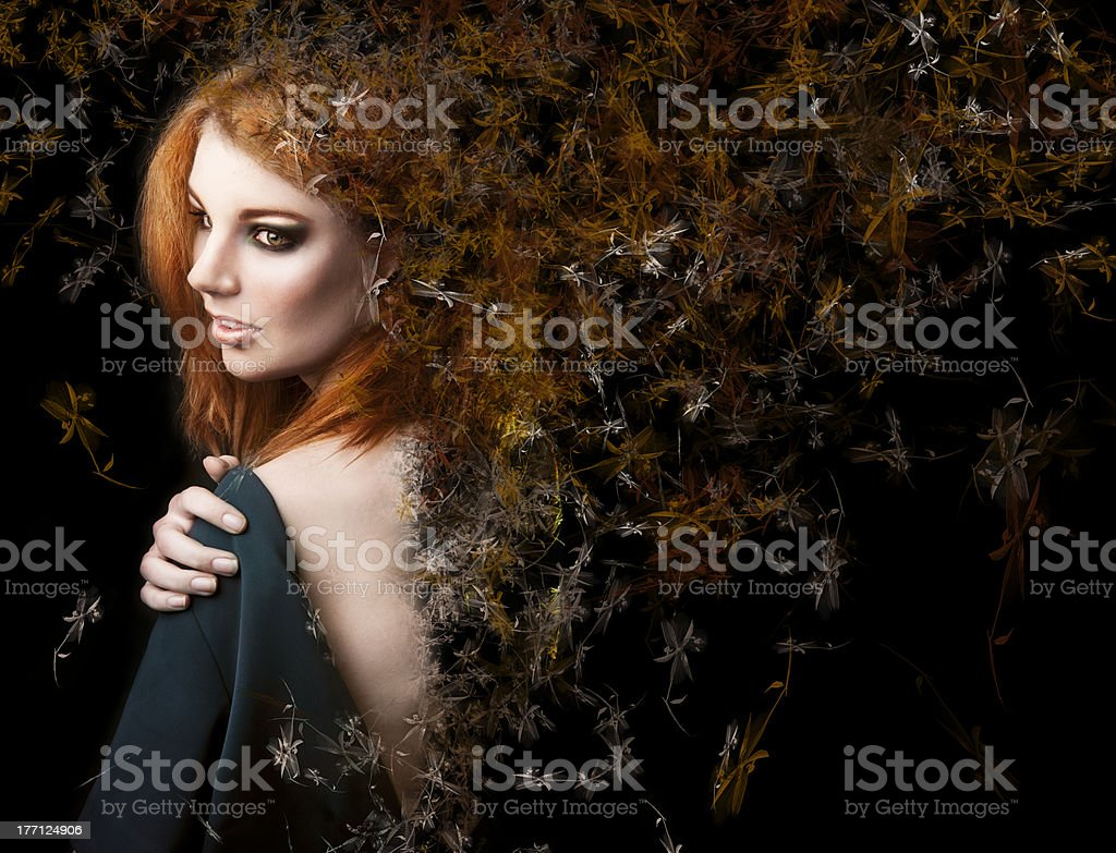 Fantasy style. photo of a young beauty girl royalty-free stock photo