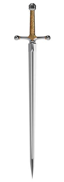 Fantasy Sword on White Background stock photo