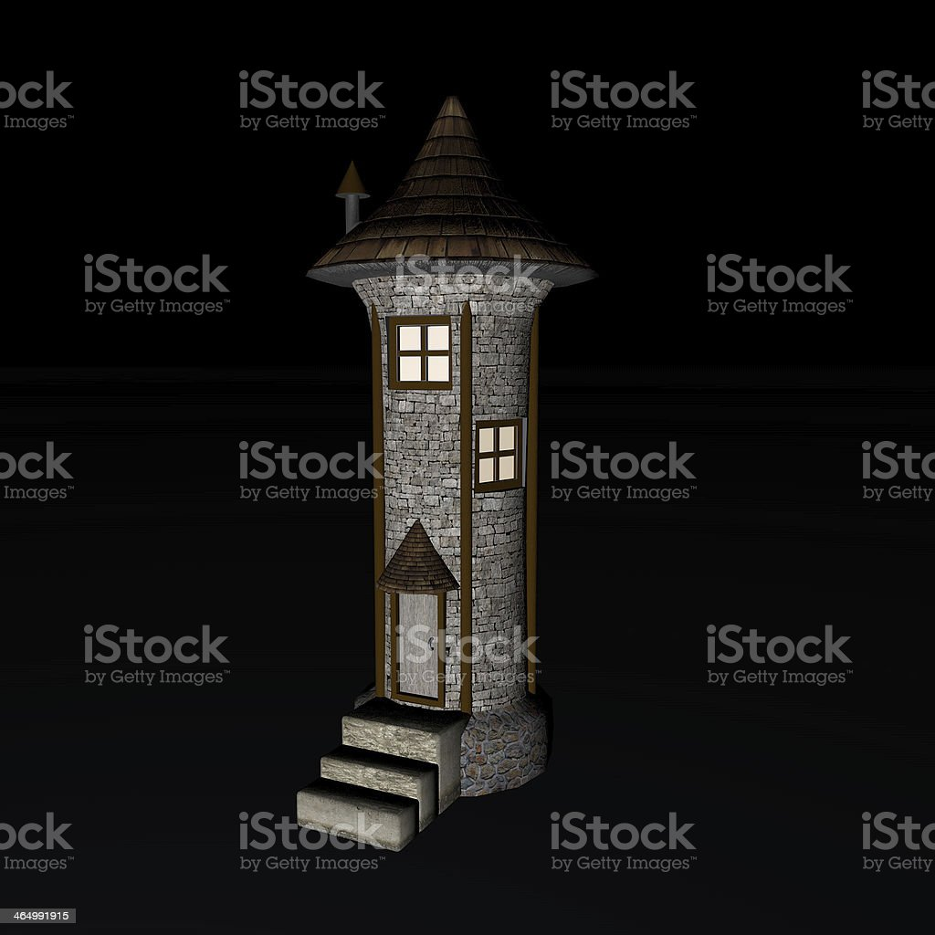 Fantasy Tower royalty-free stock photo