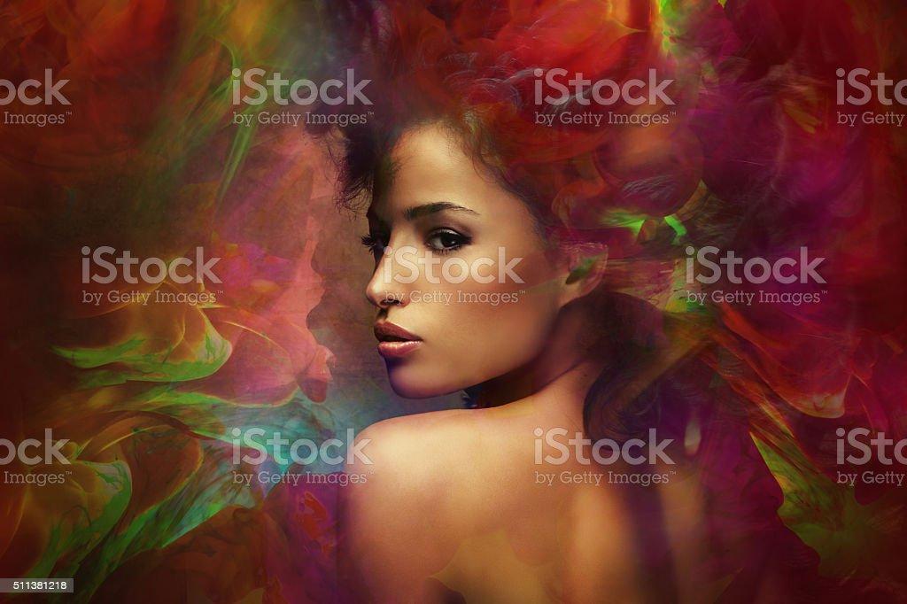 fantasy woman sensation stock photo