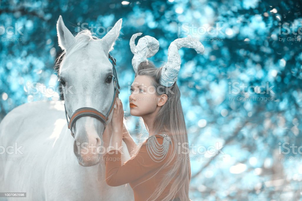 Fantasy Woman With Horns Stock Photo Download Image Now Istock