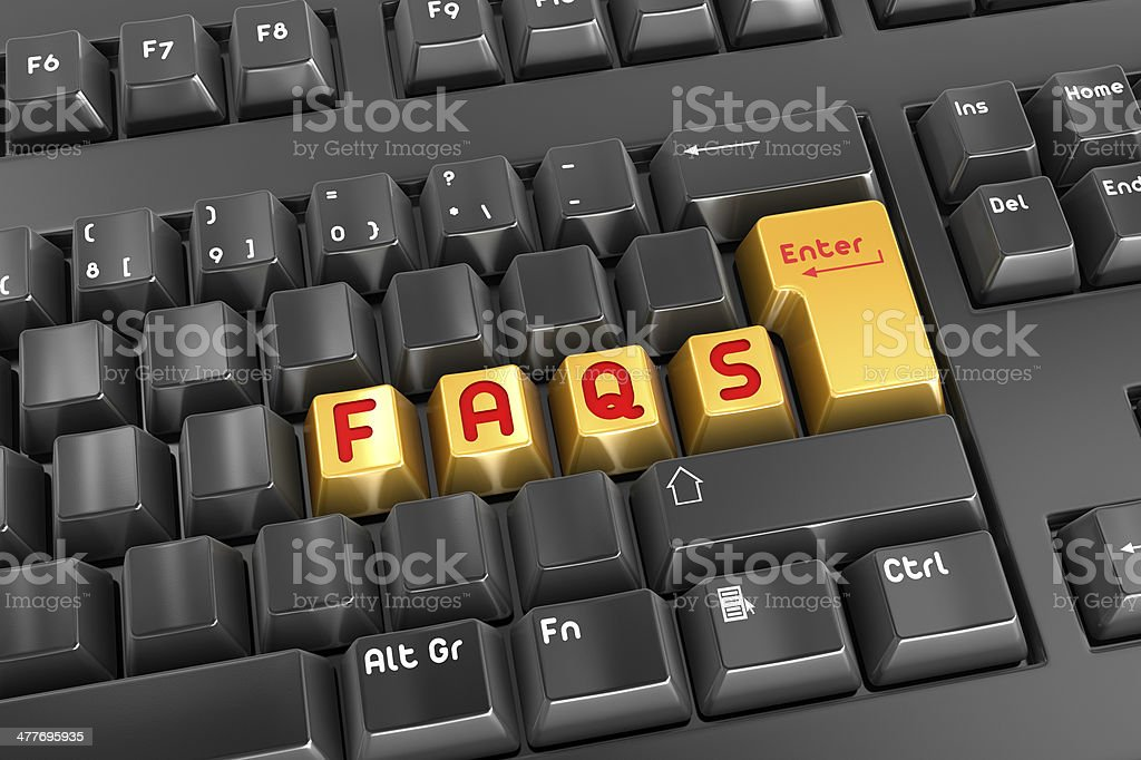 Faqs royalty-free stock photo