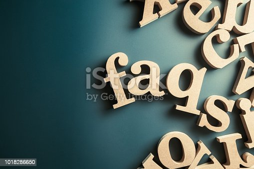 istock FAQs Wood Letters 1018286650