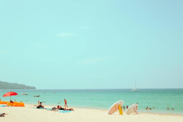 Weit entfernte Bildaufnahme vom Strand – Foto