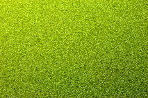 Far away overhead view of powdered green tea