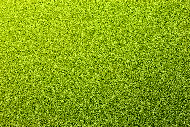 Far away overhead view of powdered green tea stock photo