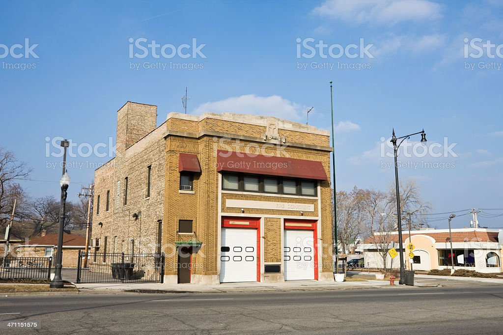 Far Southwest Chicago Fire Station royalty-free stock photo