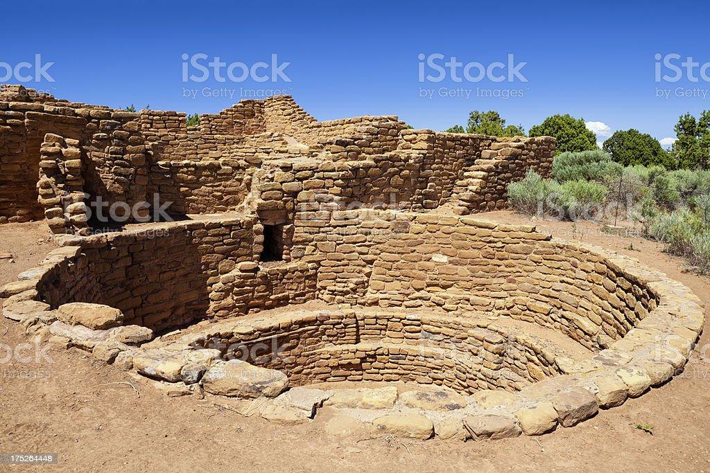Far View House Ruins - Mesa Verde National Park, Colorado stock photo