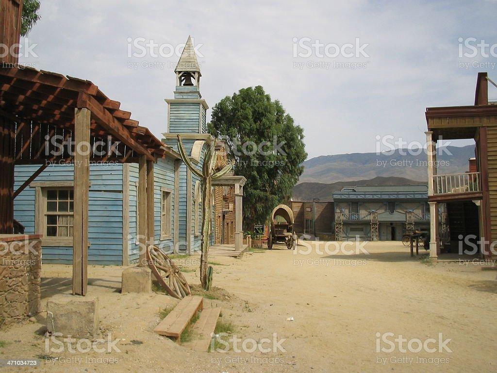 Far west 'Series'- Church stock photo