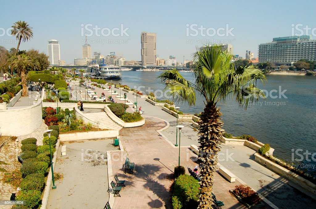 Farag Garden on Gezira Island - Cairo stock photo