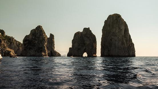 Faraglioni rocks in Capri island, Italy